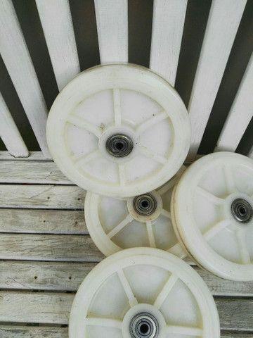 Roda de teflon rolamentada - Foto 3