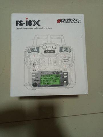 Radio FlySky 10 FS-i6x 10 Canais + Receptor ia10b - Foto 2