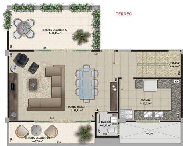 Oportunidade Lindo Sobrado  em condomínio com 3 dormitórios -  188m2 privativos + terraço - Foto 9