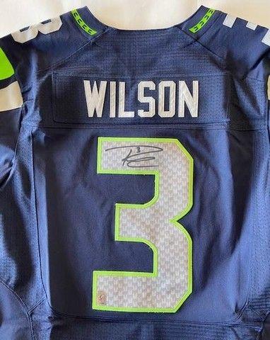 Camisa NFL Seahawks #3 Russell Wilson Autografada