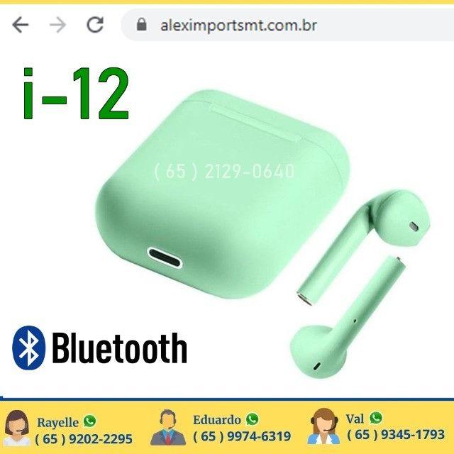 Verde Fone de ouvido sem fio i12 Tws Original Bluetooth Bom