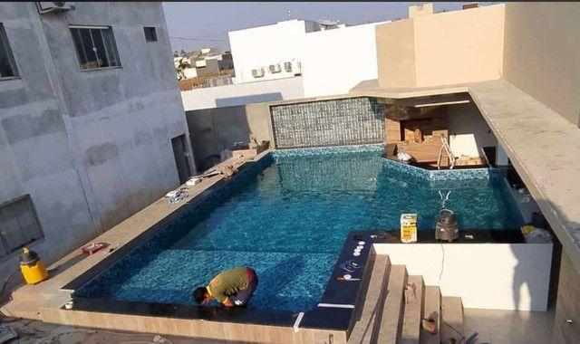 Construção de piscinas de vinil e azulejo  - Foto 6