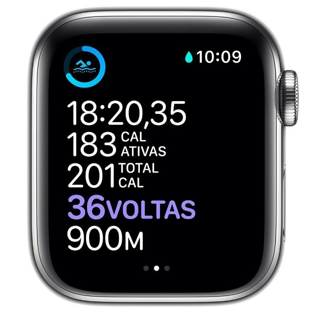 Apple Watch Series 6 (GPS + Cellular) 40mm caixa aço inoxidável e pulseira estilo milanês - Foto 4