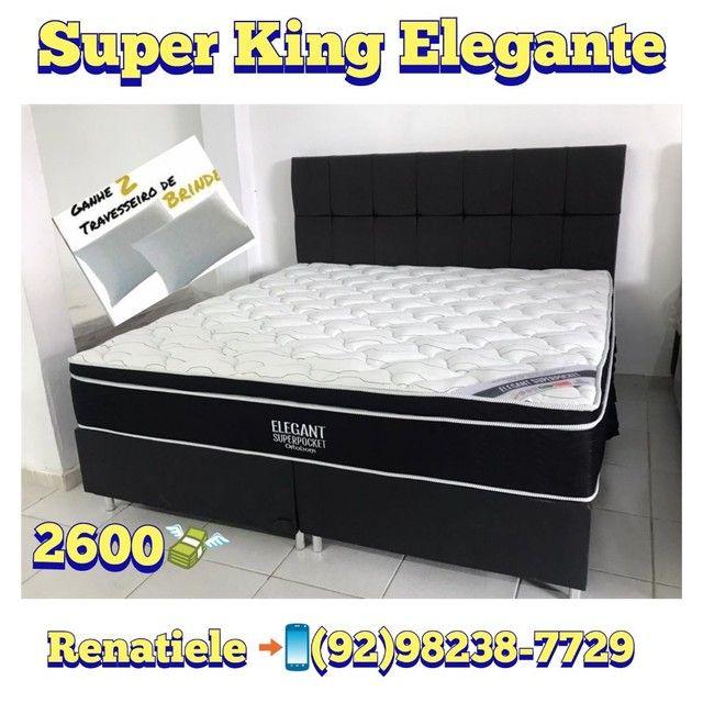 Cama Super King ELEGANT // MEGA PROMOÇÃO