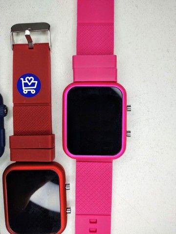 Relógio Led Multicolor (entrega em domicílio) - Foto 5