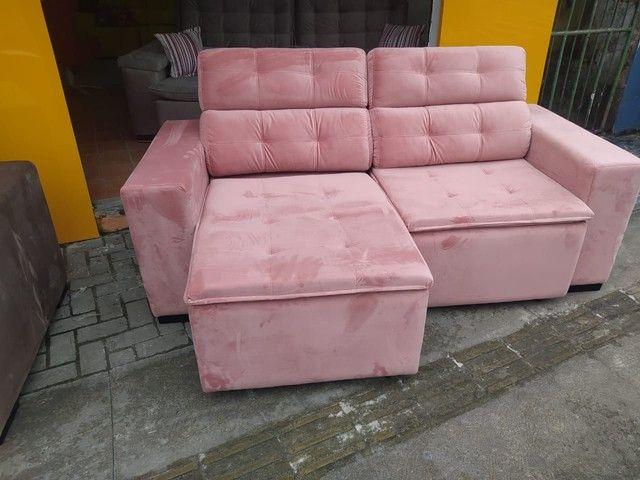 Sofá retrátil reclinável de todas as cores e tecidos! - Foto 3
