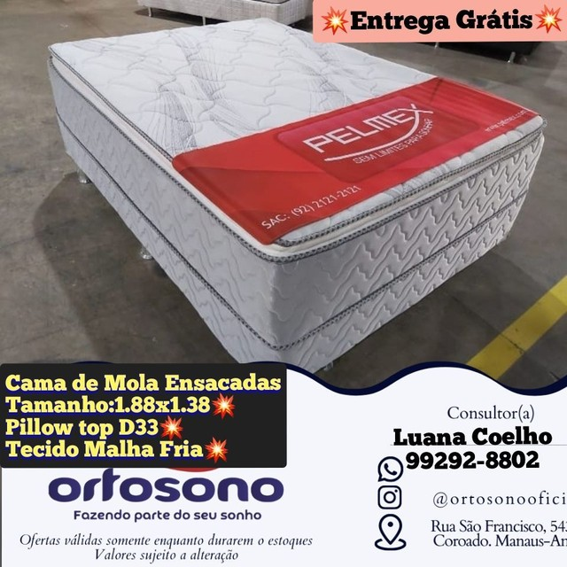 Cama Box Casal / molas ensacadas