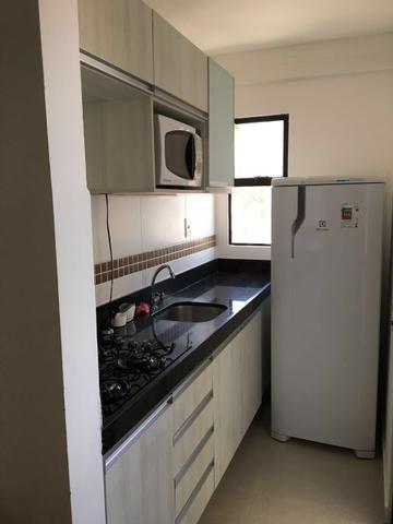 Apartamento 1/4 ponta negra mobiliado