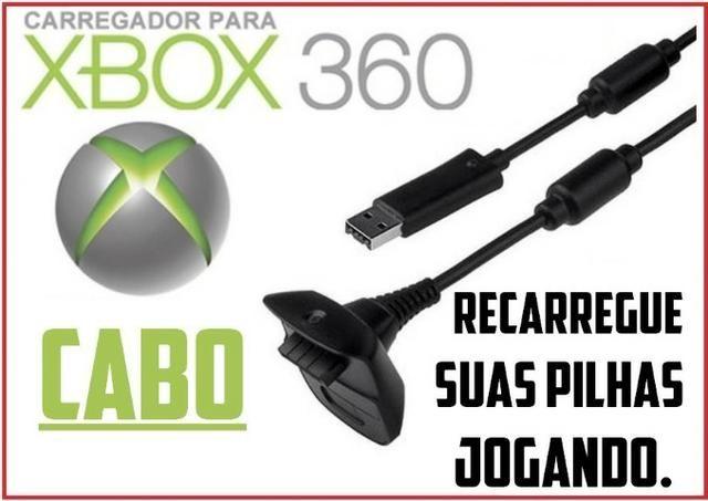 Cabo Carregador Para Controle Xbox 360 - carregue suas pilhas jogando
