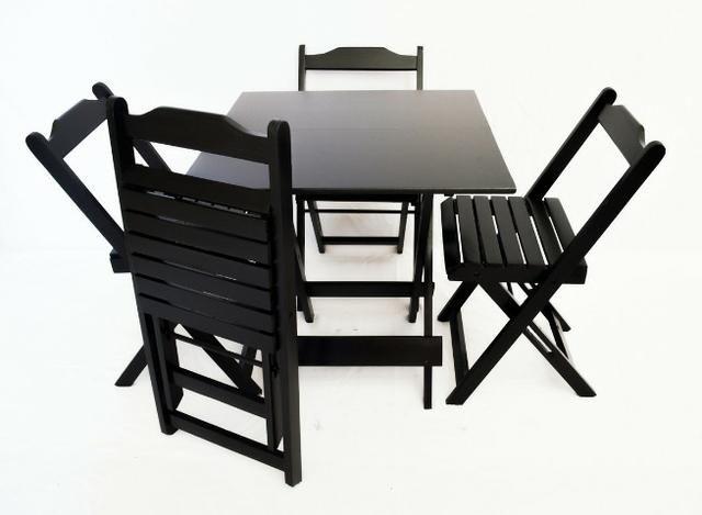 Mesa de bar 70x70 com 4 cadeiras direto do fabricante entrega até 24h 970014009