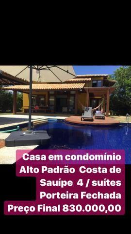 4 suítes casas Sauípe a + barata do condomínio 830 mil -preço final oportunidade