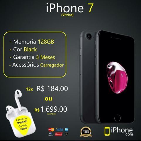 IPhone 7 128GB | Black | Somos Loja Física | Aceitamos Troocas