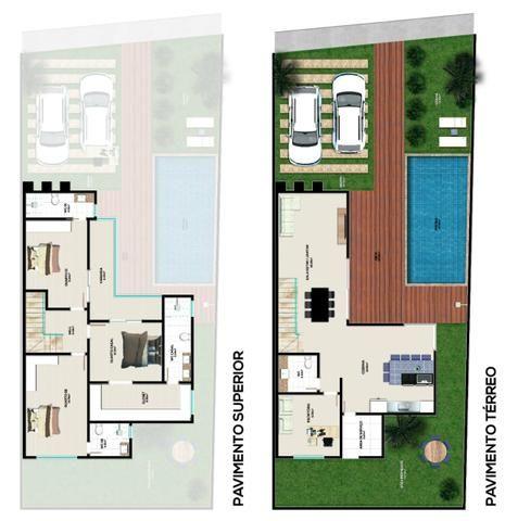 Linda casa em Jardim Placaford, 4 quartos com suítes - Foto 3