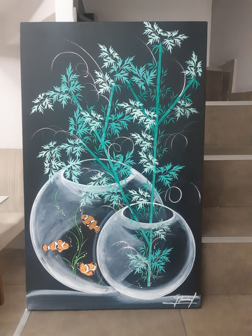 Quadro decorativo aquário - Foto 2