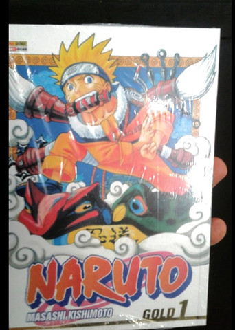 Mangá Naruto volume 1 (primeira impressão) autografado