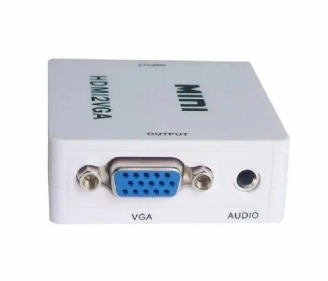 Mini Conversor de Vídeo HDMI para VGA