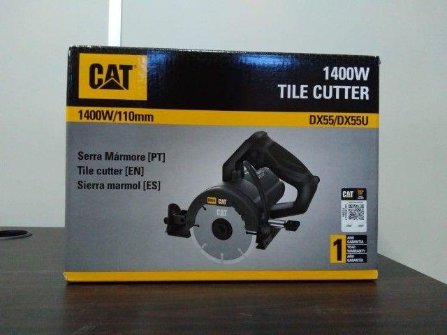Serra Mármore CAT 1400W 110mm Corte 45/90Graus - Foto 3