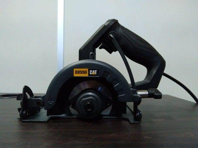 Serra Mármore CAT 1400W 110mm Corte 45/90Graus - Foto 4