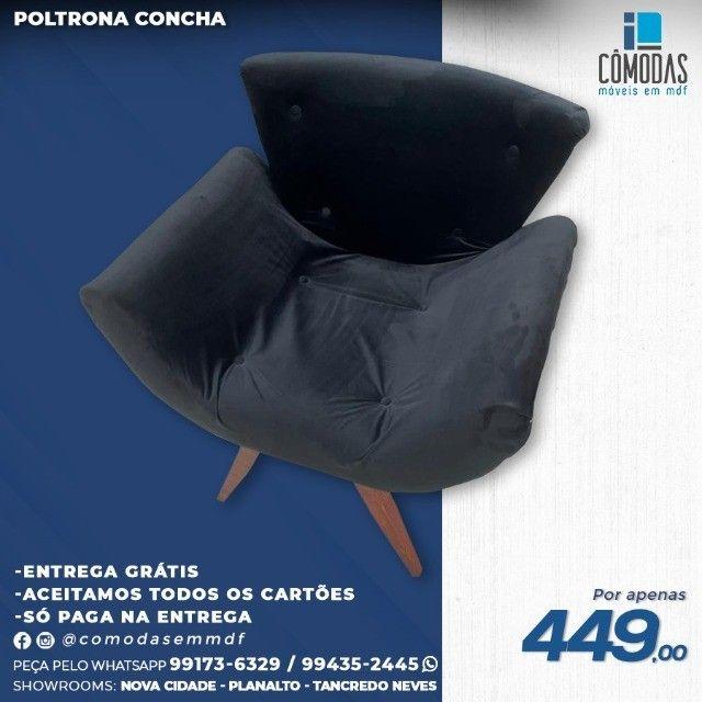 Preta -Cadeira veludo Inca na cor Preta