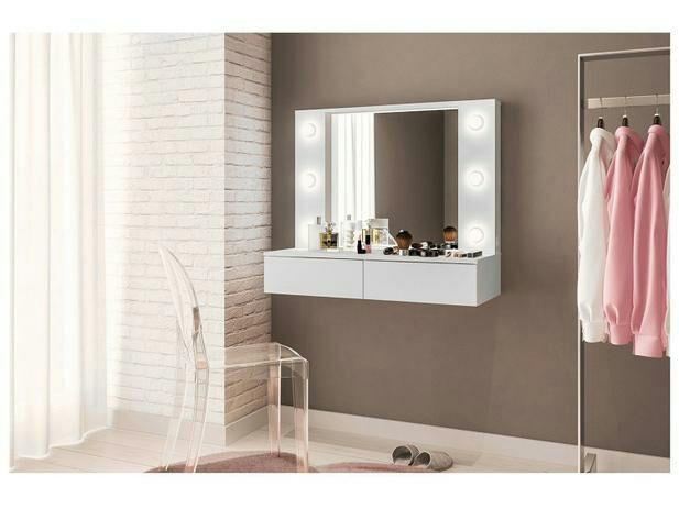 Penteadeira Camarim Parede com Espelho - 2 Gavetas<br><br> - Foto 3