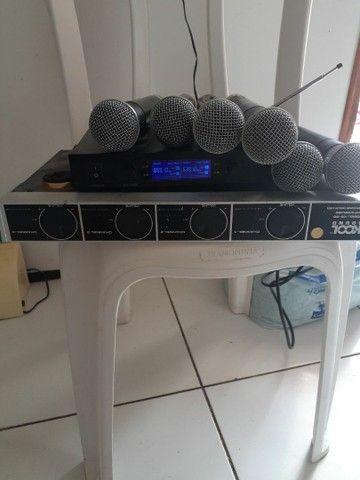 Microfone sem fio completo  - Foto 4