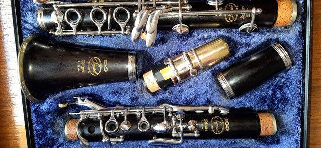 Clarinete Madeira Ébano Selmer Signet 100 Si Bemol 17 Chaves  - Foto 2