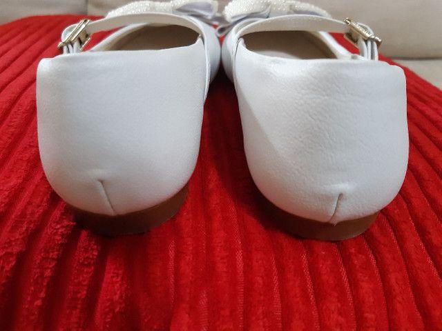 Sapatilha para batizado/dama tamanho 30 - Foto 5