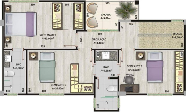 Oportunidade Lindo Sobrado  em condomínio com 3 dormitórios -  188m2 privativos + terraço - Foto 10