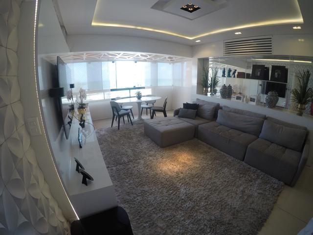 Apartamento no Residencial Seychelles, 3 quartos, dependência, vista mar - Areia Preta - N