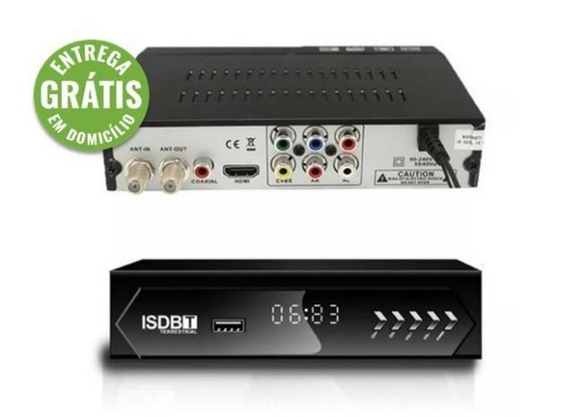 Conversor receptor tv digital multimídia com gravador - entrega grátis