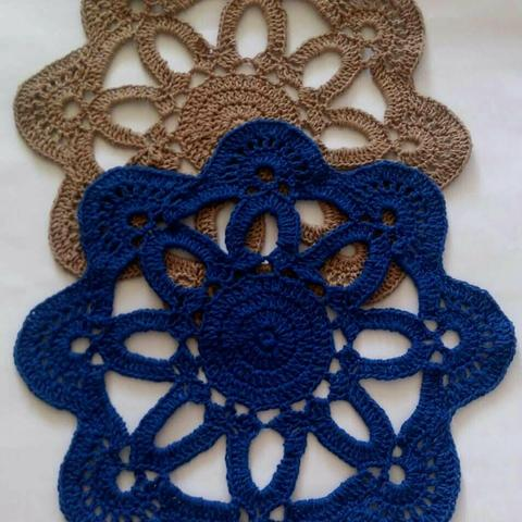 Sousplat de Crochê - cores variadas