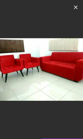 Sofa e 2 poltronas