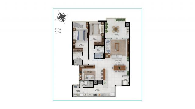 Apartamento à venda com 2 dormitórios em Jurerê, Florianópolis cod:AP004796 - Foto 4