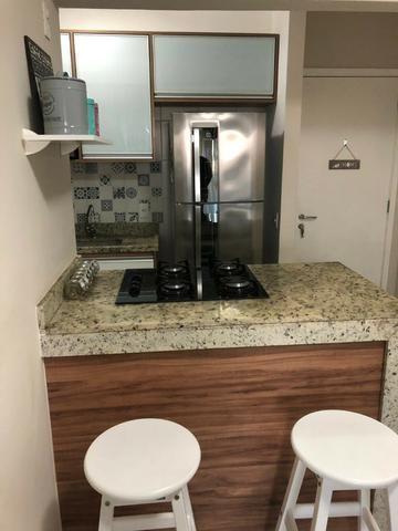 Apartamento Alphaville Cosmopolitan 1 suíte 52m² Nascente Finamente Decorado Vista Lagoa - Foto 7
