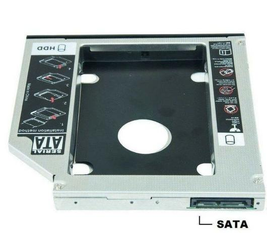 "Adaptador Caddy De 12,7 MM ou 9,5MM Para Hd Sata 2,5"" Ou SSD Exbom Hdca-s127 - Foto 3"