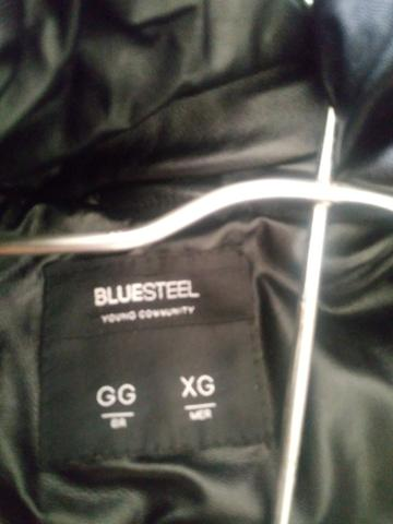 Jaqueta puffer Blue steel com toca removível zero nunca usado - Foto 5