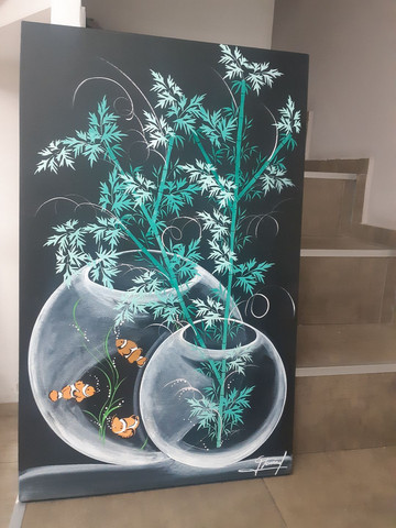 Quadro decorativo aquário - Foto 3