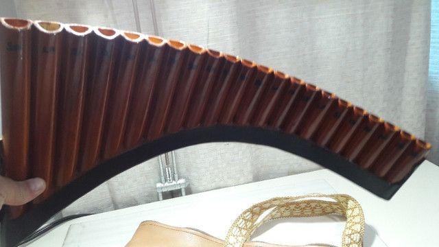 Flauta Pan Profissional Tenor 22 Tubos + Manual em CD! - Foto 3
