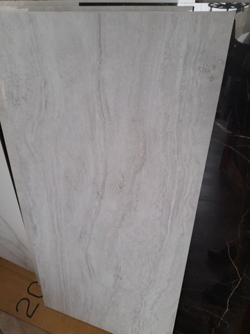 "Porcelanato acetinado travertino nanova grigio natural retificado ""C"" 60x120  - Foto 3"
