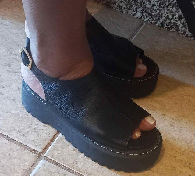 Sandálias de couro - Foto 3