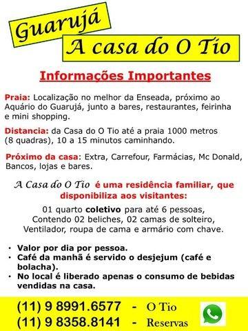 Guarujá - A Casa do O Tio $ 50 por dia - Foto 7