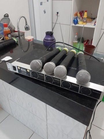 Microfone sem fio completo