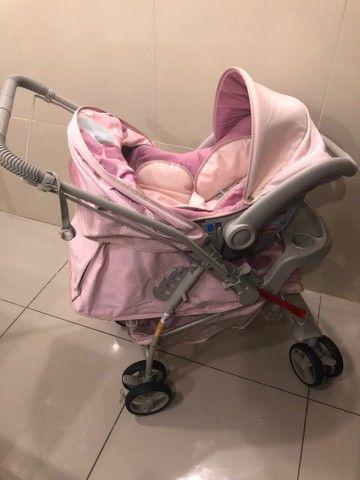 Vendo carrinho com bebê conforto  - Foto 4
