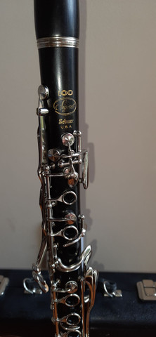 Clarinete Madeira Ébano Selmer Signet 100 Si Bemol 17 Chaves  - Foto 5