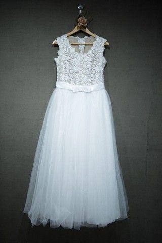 Vestido de noiva ,salto branco 37 e véu - Foto 3