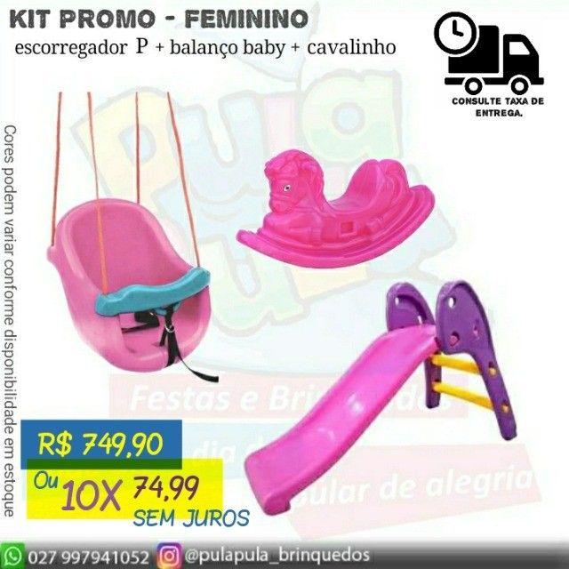 Kit Promocional - Escorregador  + Cavalinho + Balancinho Baby