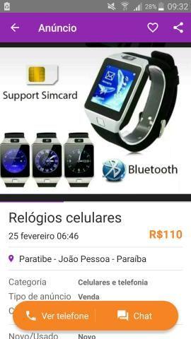 Relógio celular