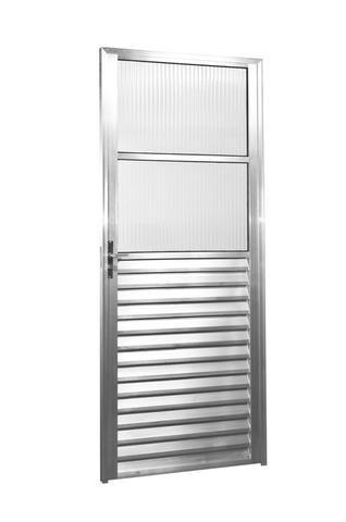 Porta de Alumínio c/ Vidro 210x80