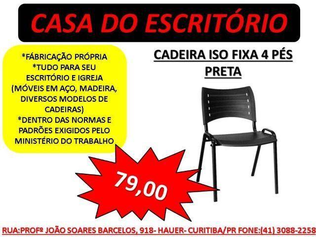 Cadeira empilhável ISO igrejas, escritório, direto da fábrica / Nova