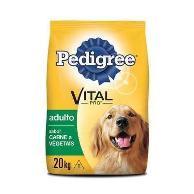 Ração Pedigree Carne e Vegetais para Cães Adultos 20 KG